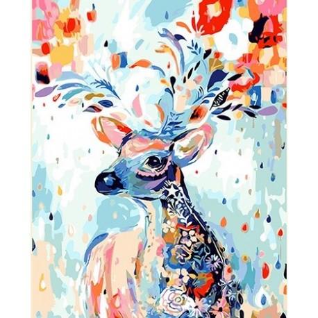 Pintura digital  al óleo   Ciervo