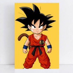 Pintura digital al óleo Dragon Ball-Goku