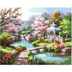 Pintura digital al óleo Primavera que fluye