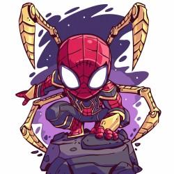 Pintura digital  al óleo-Avengers-Spiderman