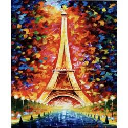 Pintura digital  al óleo Torre Eiffel