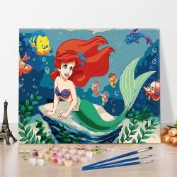 Pintura digital  al óleo  -Princesa sirena
