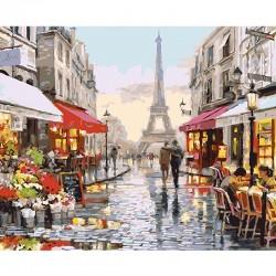 Pintura digital al óleo Convención Torre de París