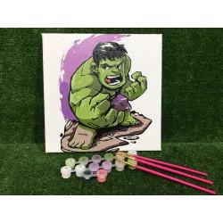 Pintura digital  al óleo - Avengers-Hulk