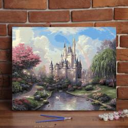 Pintura digital  al óleo  Castillo de los sueños