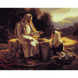 Pintura digital  al óleoLa predicación de Jesús