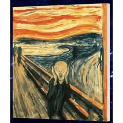Pintura digital  al óleo  Munch - gritando