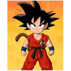 Pintura digital al óleo Dragon Ball-Goku